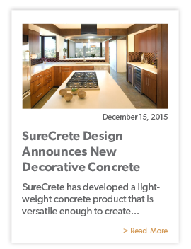 SureCrete Design Announces New Decorative Concrete