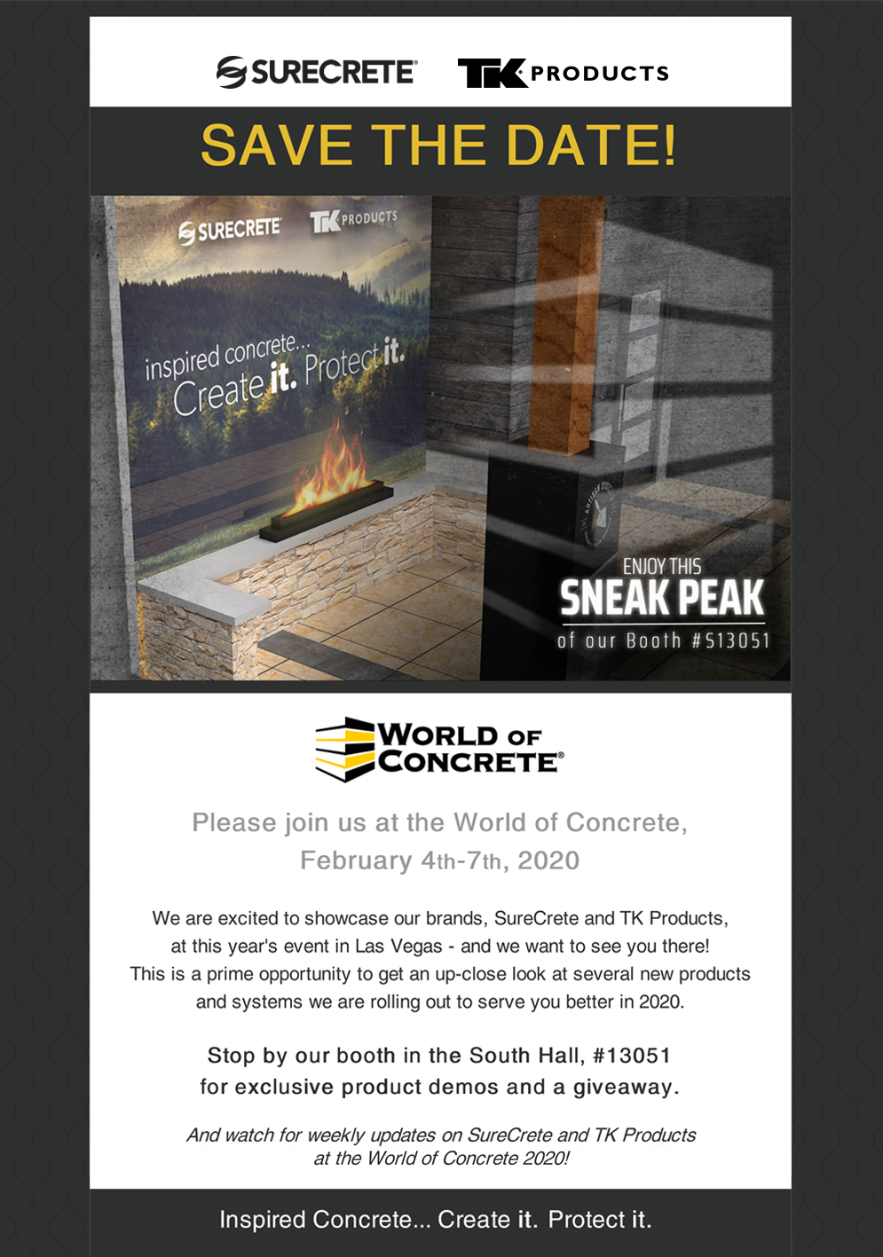World of Concrete 2020 Save the Date
